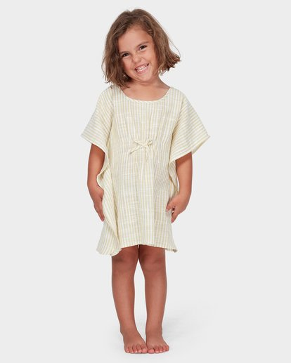 2 GIRLS SOLEIL STRIPE COVER UP Yellow 5582152 Billabong