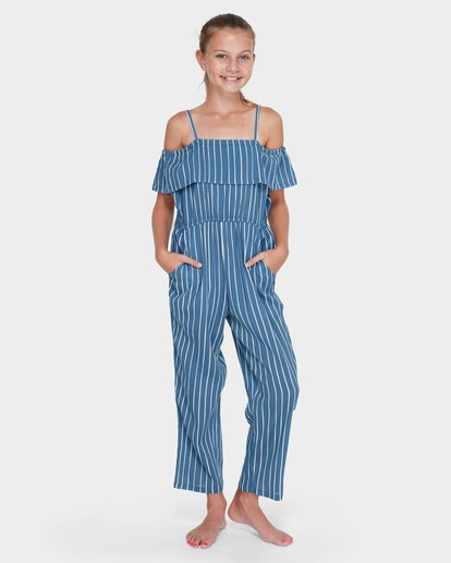 3 TEEN INDIGO STRIPE JUMPSUIT Purple 5582502 Billabong