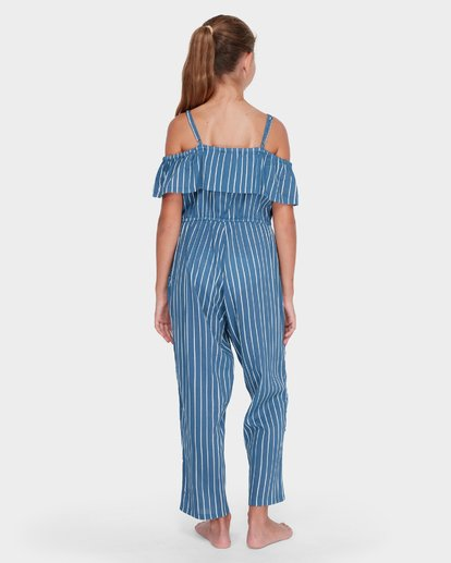 2 TEEN INDIGO STRIPE JUMPSUIT Purple 5582502 Billabong