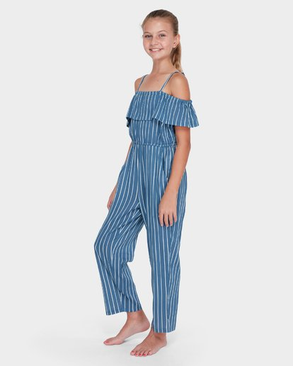 1 TEEN INDIGO STRIPE JUMPSUIT Purple 5582502 Billabong