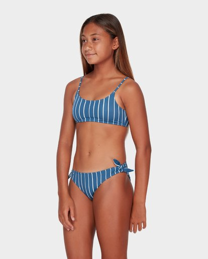 1 TEEN INDIGO STRIPE CROP BIKINI SET  5582556 Billabong