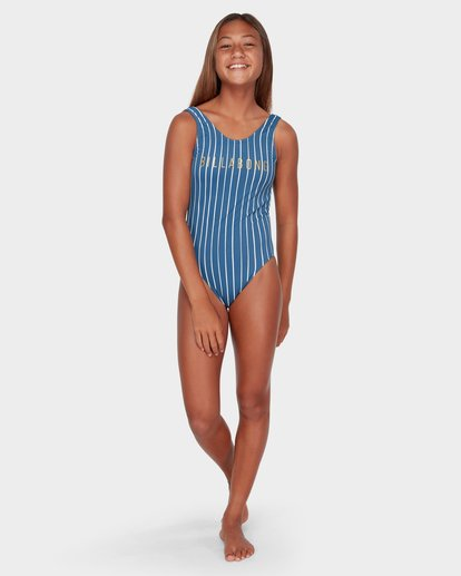 3 TEEN INDIGO STRIPE ONE PIECE  5582557 Billabong