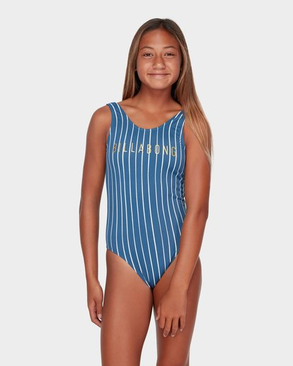 0 TEEN INDIGO STRIPE ONE PIECE  5582557 Billabong