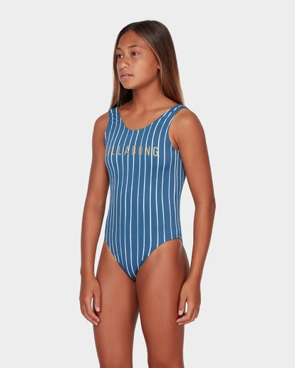 1 TEEN INDIGO STRIPE ONE PIECE  5582557 Billabong