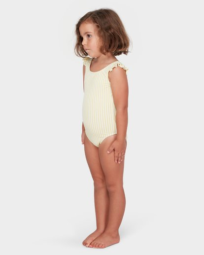 1 GIRLS SOLEIL STRIPE ONE PIECE Yellow 5582564 Billabong