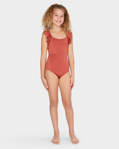 3 TEEN SHINE ONE PIECE Brown 5582570 Billabong