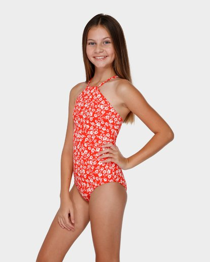 1 TEEN POPPY FLORAL ONE PIECE Red 5591558 Billabong