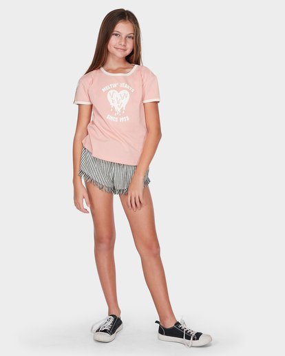 3 TEEN MELTIN' HEARTS RINGER TEE Red 5595002 Billabong