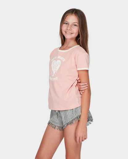 1 Teen Meltin' Hearts Ringer Tee Red 5595002 Billabong