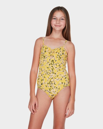 0 Teen Golden Sky One Piece Yellow 5595553 Billabong