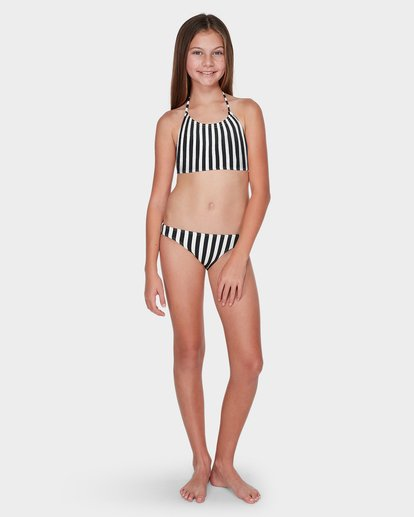 3 TEEN SUN STRIPED CROPPED BIKINI SET  5595555 Billabong