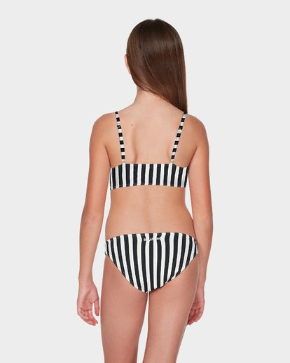 2 TEEN SUN STRIPED CROPPED BIKINI SET Black 5595555 Billabong