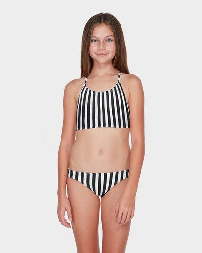 0 TEEN SUN STRIPED CROPPED BIKINI SET  5595555 Billabong