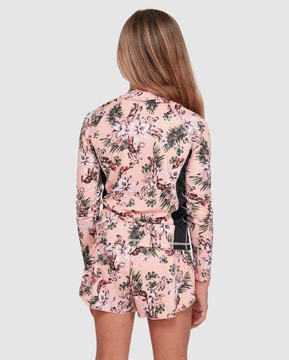2 Summer Jam Long Sleeve Rash Vest Pink 5703001 Billabong