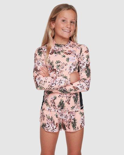 0 Summer Jam Long Sleeve Rash Vest Pink 5703001 Billabong