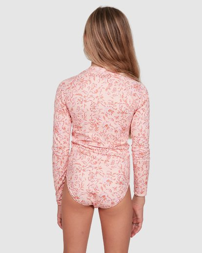 2 Wave Gypsy Onepiece Rash Vest Pink 5703005 Billabong