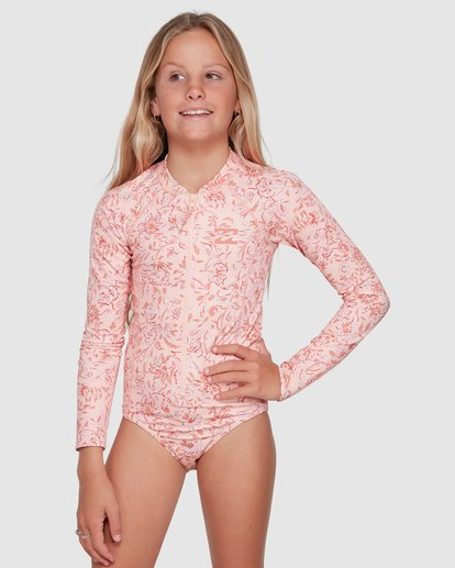 0 Wave Gypsy Onepiece Rash Vest Pink 5703005 Billabong
