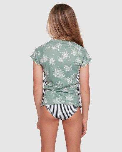 2 Take It Easy Short Sleeve Rash Vest Green 5703006 Billabong