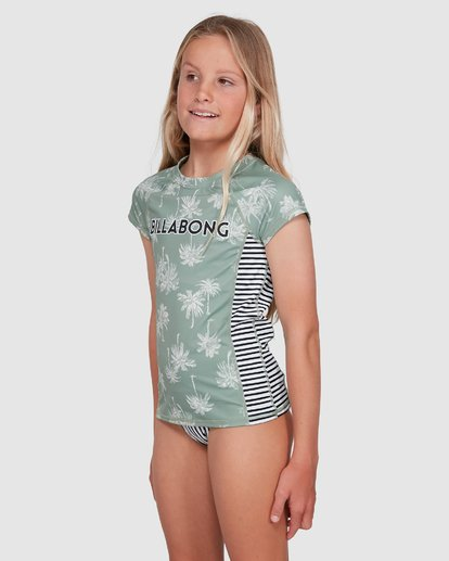 1 Take It Easy Short Sleeve Rash Vest Green 5703006 Billabong
