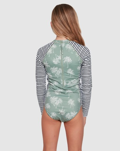 2 Take It Easy Onepiece Rash Vest Green 5703010 Billabong