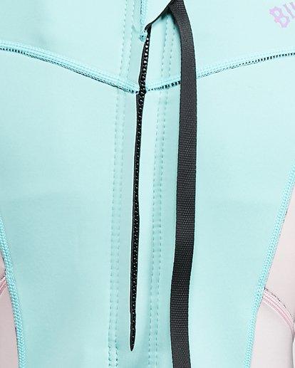 3 202 Teen Synergy Back Zip Short Sleeve FL Springsuit Blue 5703400 Billabong