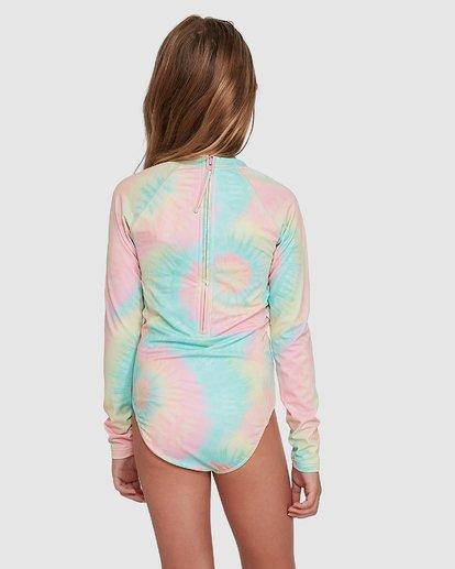 3 Tie Dye Love One Piece Rash Vest Grey 5704001 Billabong