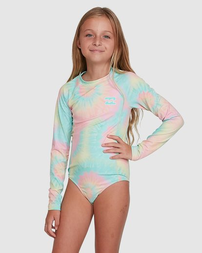 1 Tie Dye Love One Piece Rash Vest Grey 5704001 Billabong