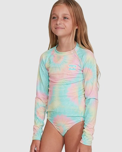 0 Tie Dye Love One Piece Rash Vest Grey 5704001 Billabong