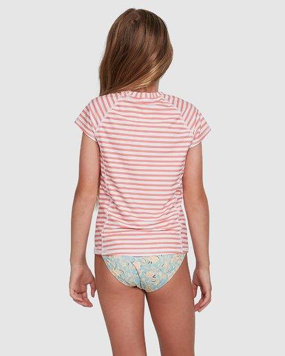3 Stoked Stripe Short Sleeve Rash Vest White 5704005 Billabong