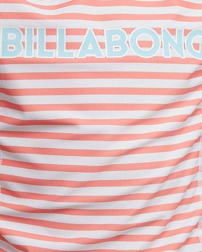 5 Stoked Stripe Short Sleeve Rash Vest White 5704005 Billabong