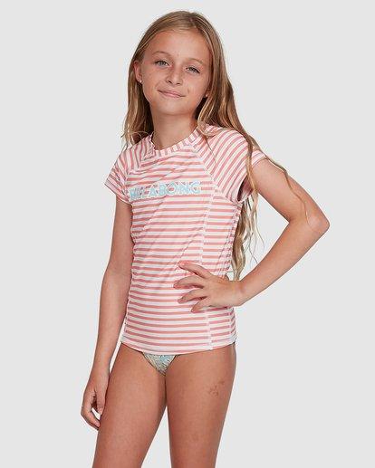 1 Stoked Stripe Short Sleeve Rash Vest White 5704005 Billabong