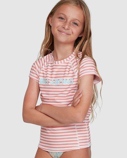 0 Stoked Stripe Short Sleeve Rash Vest White 5704005 Billabong