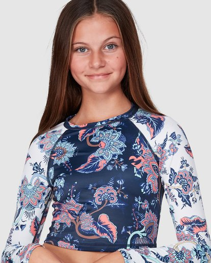 4 Gypsy Crop Long Sleeve Rashguard Blue 5707001 Billabong