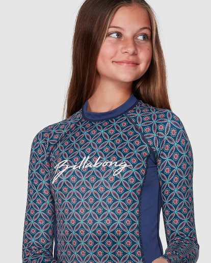 4 Downtown Long Sleeve Rashguard Set Blue 5707002 Billabong