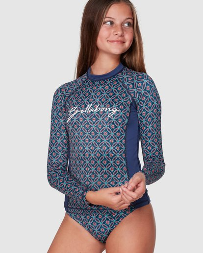 0 Downtown Long Sleeve Rashguard Set Blue 5707002 Billabong