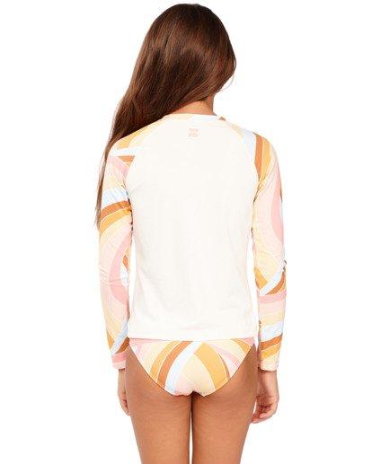 2 Girls 6-14 Sea Of Gold Rash Vest Grey 5713001 Billabong