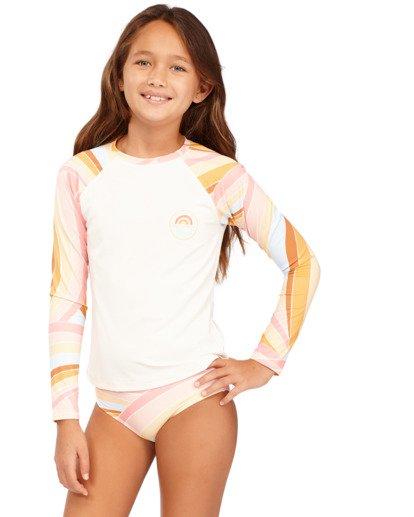 1 Girls 6-14 Sea Of Gold Rash Vest Grey 5713001 Billabong