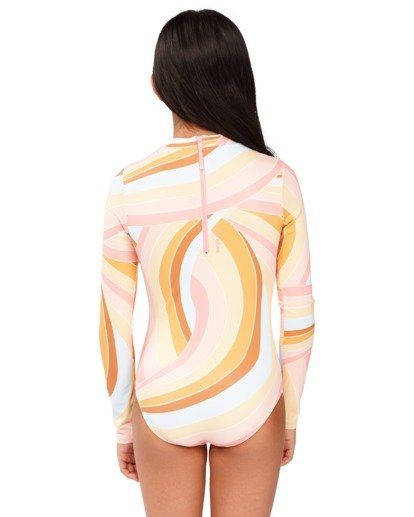 2 Girls 6-14 Sea Of Gold One Piece Bodysuit Grey 5713002 Billabong