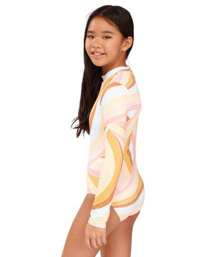 1 Girls 6-14 Sea Of Gold One Piece Bodysuit Grey 5713002 Billabong
