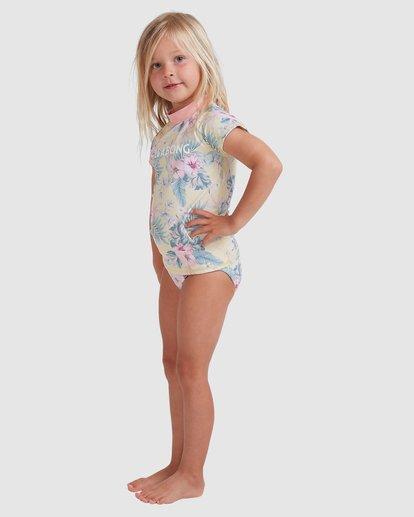 1 Girls 0-5 Island Dream Rash Vest Set Yellow 5713010 Billabong