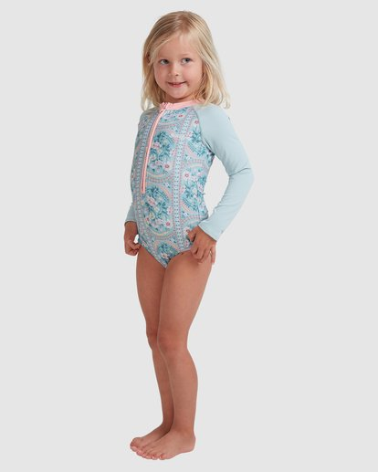 1 Girls 0-5 Lil Folk One Piece Bodysuit Blue 5713011 Billabong