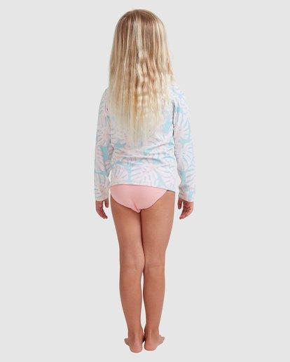 2 Girls 0-5 Shady Palms Rash Vest Set Blue 5713012 Billabong
