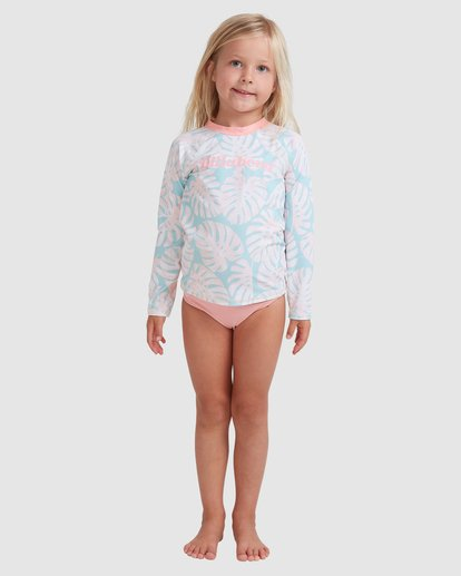 0 Girls 0-5 Shady Palms Rash Vest Set Blue 5713012 Billabong