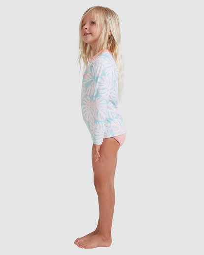 1 Girls 0-5 Shady Palms Rash Vest Set Blue 5713012 Billabong