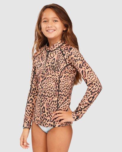 1 Girls 8-14 Peeky Wetsuit Jacket Brown 5713101 Billabong