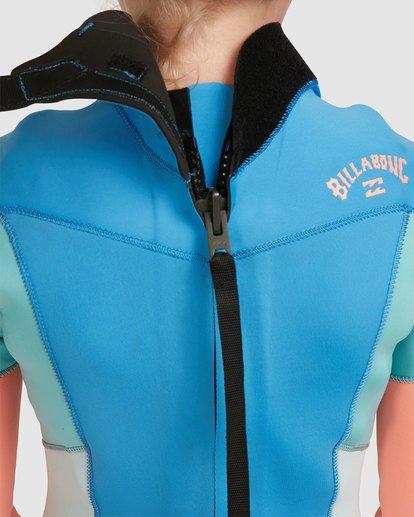 5 Teen 3/2 Synergy Back Zip Gbs Fullsuit Blue 5717810 Billabong