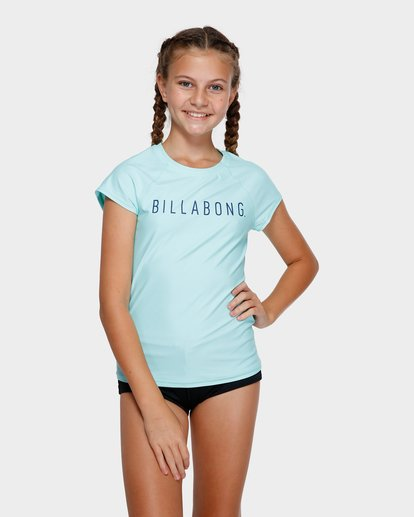 1 TEEN CAMP VIBES RASH VEST Green 5772012X Billabong
