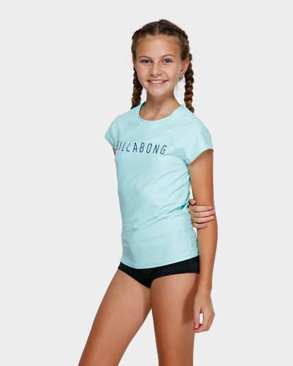 2 TEEN CAMP VIBES RASH VEST Green 5772012X Billabong
