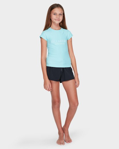3 TEEN WHITE WATER RASH VEST Blue 5781001 Billabong
