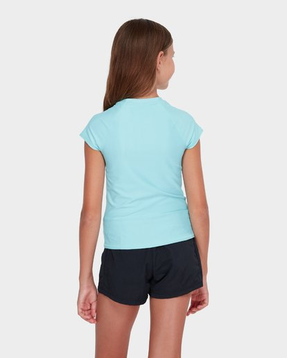 2 TEEN WHITE WATER RASH VEST Blue 5781001 Billabong